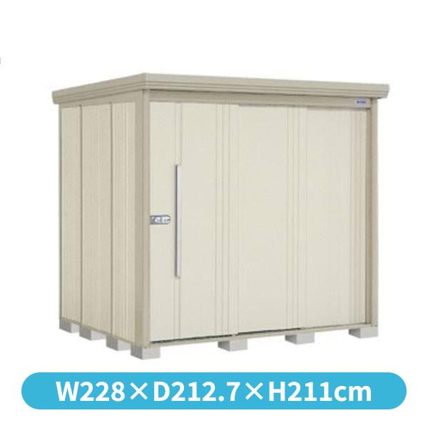 タクボ物置 ND/ストックマン 側面棚 ND-2219Y 一般型 標準屋根 『追加金額で工事も可能』 『屋外用中型・大型物置』 ムーンホワイト