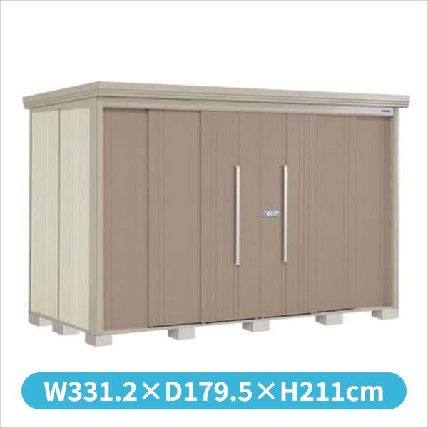 タクボ物置 ND/ストックマン 側面棚 ND-S3215Y 多雪型 標準屋根 『追加金額で工事も可能』 『屋外用中型・大型物置』 カーボンブラウン