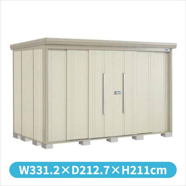 タクボ物置 ND/ストックマン 側面棚 ND-3219Y 一般型 標準屋根 『追加金額で工事も可能』 『屋外用中型・大型物置』 ムーンホワイト