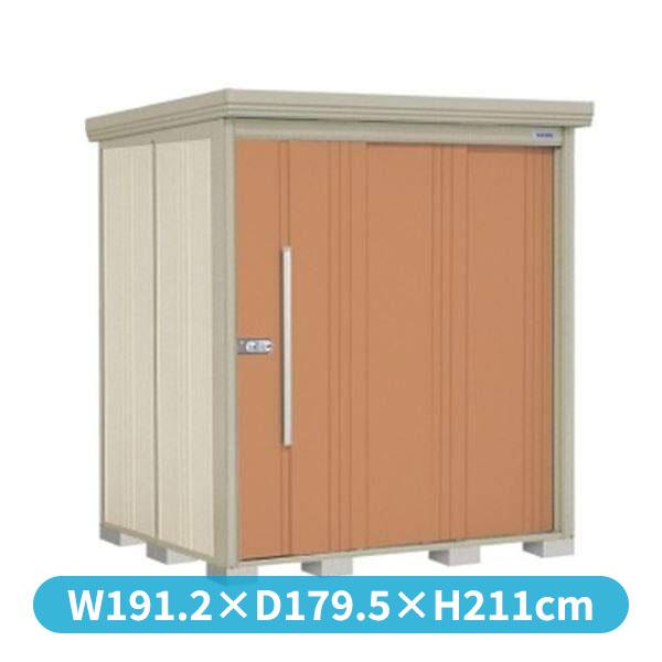 タクボ物置 ND/ストックマン 側面棚 ND-1815Y 一般型 標準屋根 『追加金額で工事も可能』 『屋外用中型・大型物置』 トロピカルオレンジ