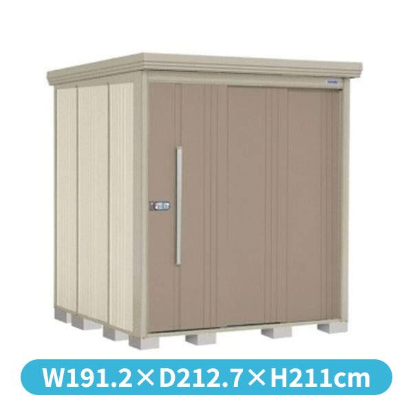タクボ物置 ND/ストックマン 側面棚 ND-1819Y 一般型 標準屋根 『追加金額で工事可能』 『収納庫 倉庫 屋外 中型 大型』 カーボンブラウン