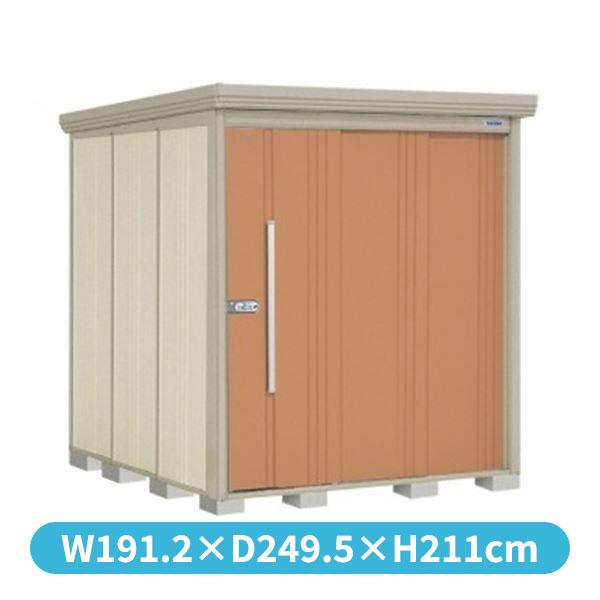 タクボ物置 ND/ストックマン 側面棚 ND-SZ1822Y 多雪型 結露減少屋根 『追加金額で工事も可能』 『屋外用中型・大型物置』 トロピカルオレンジ