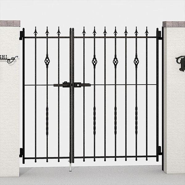 リクシル TOEX ラフィーネ門扉2型 柱使用 03・09-10 親子開き