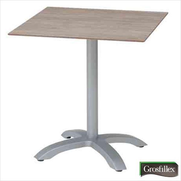 タカショー グロスフィレックス(Grosfillex) エコフィックス スクエアテーブル70 GRS-T08MG #32857400 『ガーデンテーブル』 ムーングレー