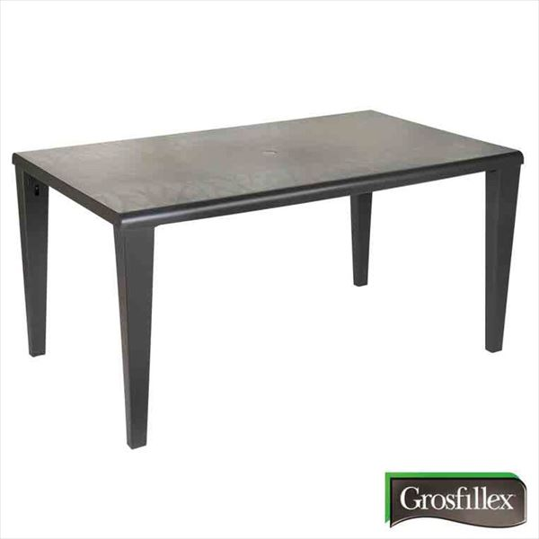 タカショー グロスフィレックス(Grosfillex) アルファテーブル GRS-T10DG #32864200 『ガーデンテーブル』 ダークグレー