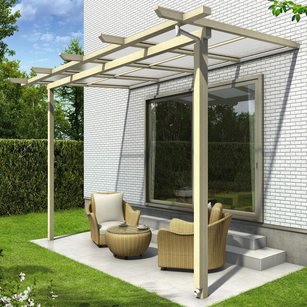 YKK ap サザンテラス パーゴラタイプ 関東間 1500N/m2 3.5間×5尺 (2連結) 熱線遮断ポリカ屋根