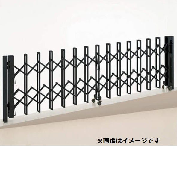 四国化成 ニューハピネスHG 傾斜地タイプ 両開き 610W H10 『カーゲート 伸縮門扉』
