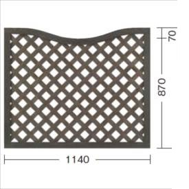 タカショー プロラフィードアンダーアーチパネル(M) W1140×H940/870mm 『ラチス 木調フェンス 柵』