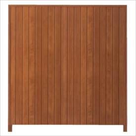 タカショー シンプルログセット2型(板貼タイプ) (縦貼・柱かくし) 片面タイプ 基本型(両柱) K-1800 『木調フェンス 柵』 K-1800