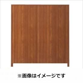 タカショー シンプルログセット4型(格子タイプ) (縦貼・柱かくし) 片面タイプ 基本型(両柱) K-1800 『木調フェンス 柵』 K-1800