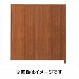 タカショー シンプルログセット4型(格子タイプ) (縦貼・柱かくし) 片面タイプ 追加型(片柱) T-1800 『木調フェンス 柵』 T-1800