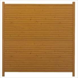タカショー シンプルログセット6型(格子タイプ) (横貼・柱見せ) 両面タイプ 基本型(両柱) K-1800 『木調フェンス 柵』 K-1800