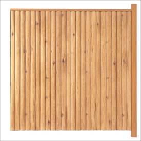タカショー エバーこだわりログセット1型 片面タイプ 追加型(片柱) T-1800 『木調フェンス 柵』 T-1800