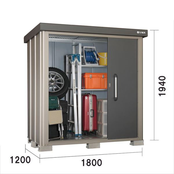 サンキン物置 SK8 SK8-70 一般型 棚板棚支柱セット付 『追加金額で工事も可能』 『中型・大型物置 屋外 DIY向け』 ギングロ