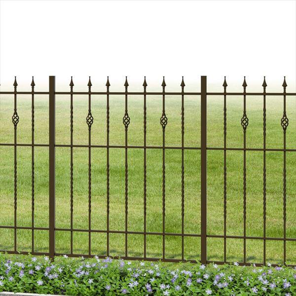 三協アルミ 鋳物フェンス キャスタイル1型 本体 1010 間仕切り支柱タイプ 『アルミフェンス 柵』