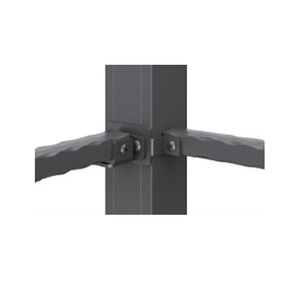 三協アルミ 鋳物フェンス キャスタイル オプション 1型用フェンス取付金具 1016用 コーナー用 『アルミフェンス 柵』