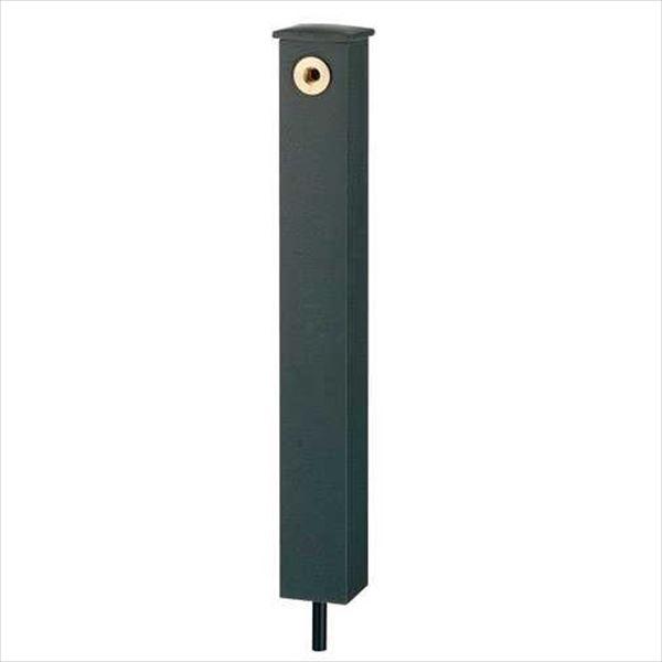 カクダイ 信楽焼陶器 水栓柱・パン 角形水栓柱 624-195 『水栓柱・立水栓 蛇口は別売り』 藍錆