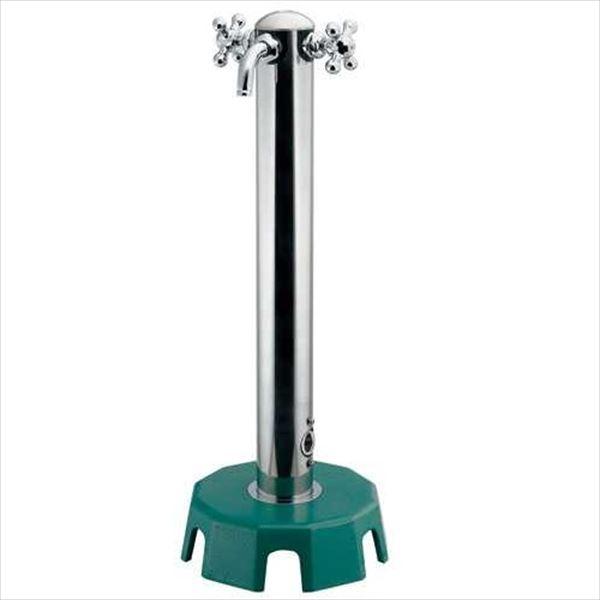 カクダイ 移動水栓柱 ステンレス混合栓柱 (増設型) 624-816 『水栓柱・立水栓セット(蛇口付き)』