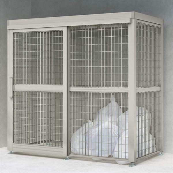 四国化成 ゴミストッカーAMF型 引き戸式 アルミ押出形材屋根 アンカー式 基本セット GSAMF-A2020 『アルミ製 ゴミ収集庫 業務用 公共用 集合住宅用』 『ゴミ袋(45L)集積目安 153袋、世帯数目安 77世帯