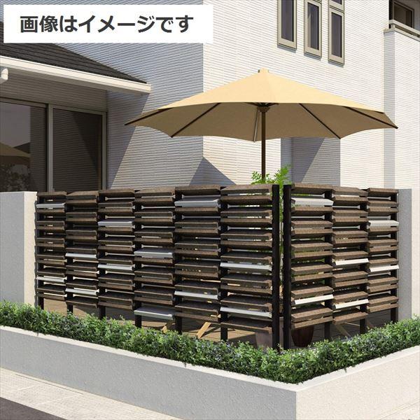 三協アルミ S.ボーダー ウチミズ 基本用 2スパン 標準タイプ 幅1000×高1200mm 『建築家がつくるデザインフェンス UCHI-MIZU』 『アルミフェンス 柵』