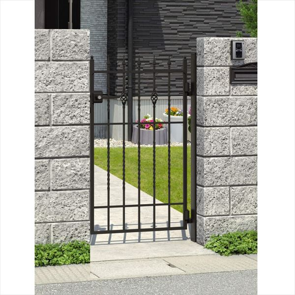 三協アルミ キャスタイル1型 アルミ鋳物門扉 0912 片開きセット 門柱タイプ 門柱タイプ