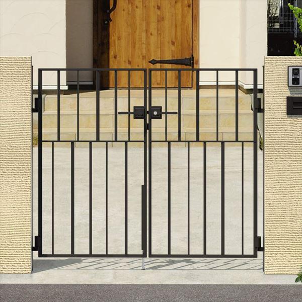 三協アルミ キャスタイル3型 アルミ鋳物門扉 0814 両開きセット 門柱タイプ 門柱タイプ