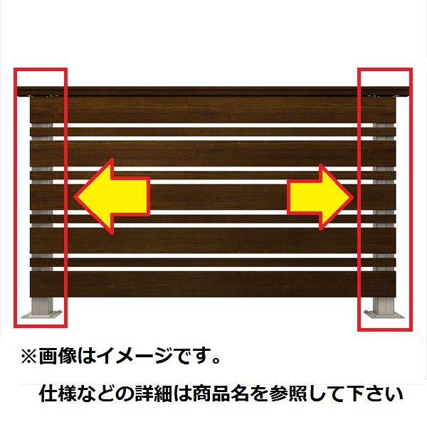 YKKAP ルシアスデッキフェンスA02型 間仕切柱・部品 ベースプレート施工 端柱セット(笠木連結金具、ベースプレート付) T80 2本入り ウッドデッキ フェンス パネル 人工木 樹脂 diy プラチナステン