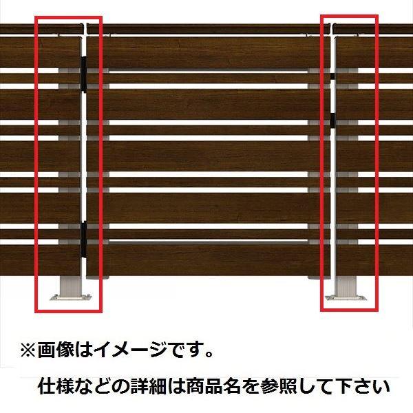 YKKAP ルシアスデッキ門扉A02型 デッキ門扉用柱(2本で1組) ベースプレート施工(控え金具付き) (受用)端柱+(吊元用)端柱 T80 ウッドデッキ 門扉 人工木 樹脂 diy