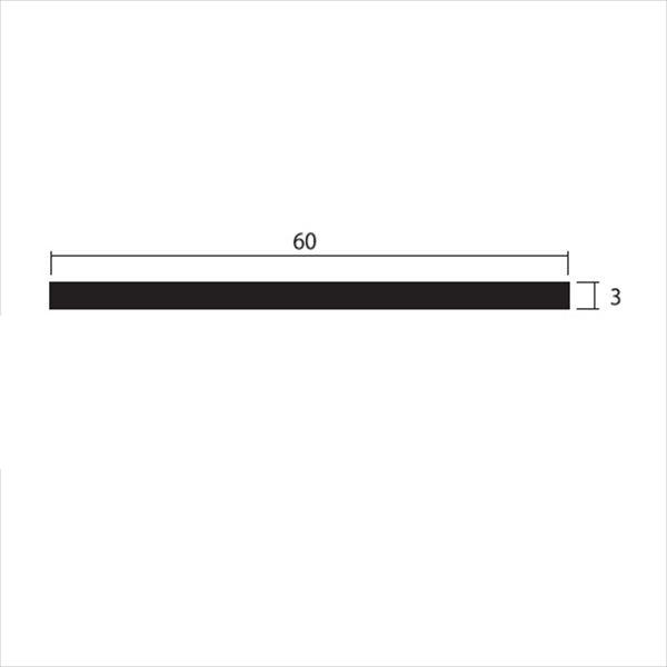 安田株式会社 一般形材 アルミフラットバー 定尺 L=4,000 3×60(mm) 『外構DIY部品』