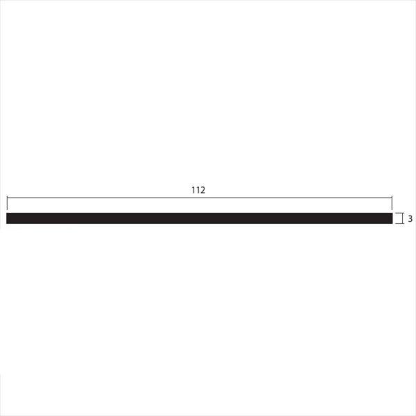 安田株式会社 一般形材 アルミフラットバー 定尺 L=4,000 3×112(mm) 『外構DIY部品』 シルバー