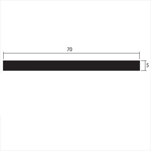 安田株式会社 一般形材 アルミフラットバー 定尺 L=4,000 5×70(mm) 『外構DIY部品』 シルバー