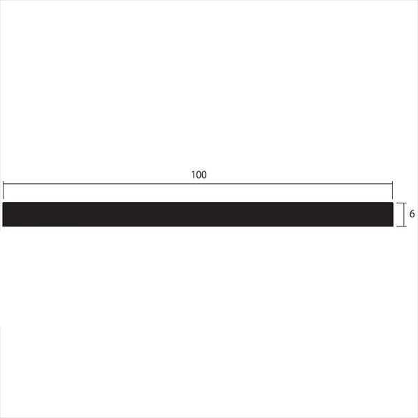 安田株式会社 一般形材 アルミフラットバー 定尺 L=4,000 6×100(mm) 『外構DIY部品』
