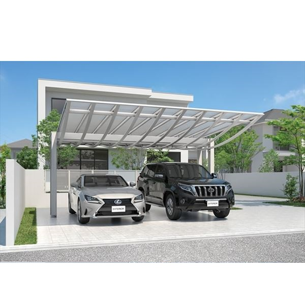 三協アルミ エアロシェード 2台用 5858 H26 熱線吸収防汚ポリカ屋根 『アルミカーポート 自動車屋根』
