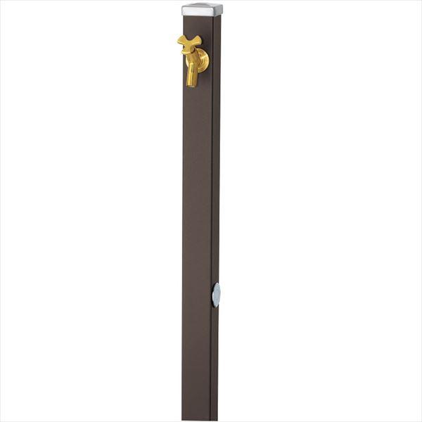 ユニソン スプレスタンド60 左右仕様 蛇口(ゴールド)1個セット 『立水栓セット(蛇口付き)』  マットブラウン