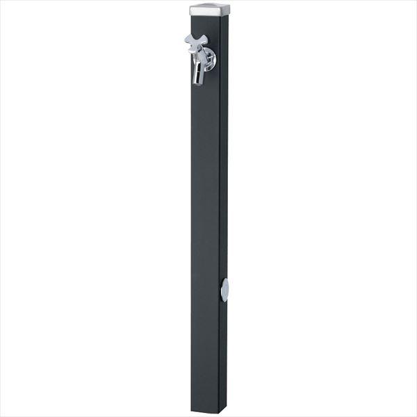 ユニソン スプレスタンド60 左右仕様 蛇口(シルバー)1個セット 『立水栓セット(蛇口付き)』  マットブラック