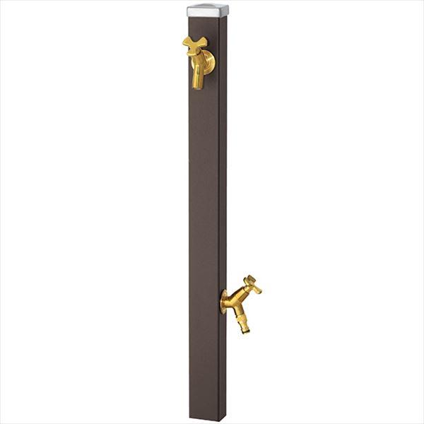 ユニソン スプレスタンド60 左右仕様 蛇口(ゴールド)2個セット 『立水栓セット 蛇口+補助蛇口付き』