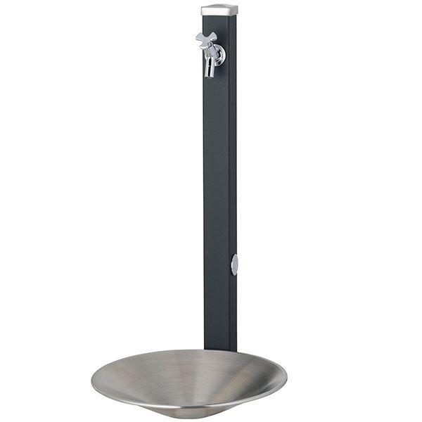 ユニソン スプレスタンド60 左右仕様 蛇口1個セット 組み合わせセット 『立水栓セット 蛇口 水受け付き 3点セット』