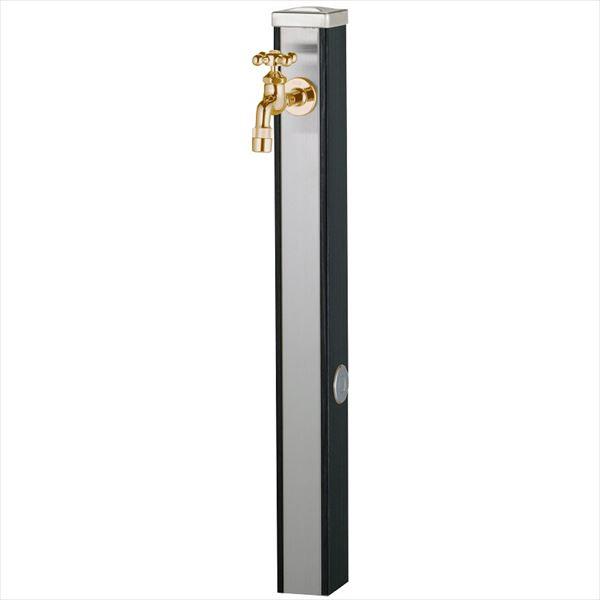 ユニソン スプレスタンド70 蛇口(ゴールド)1個セット 『水栓柱・立水栓セット(蛇口付き)』 ウッドブラック