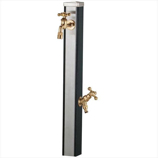 ユニソン スプレスタンド70 蛇口(ゴールド)2個セット 『水栓柱・立水栓セット(蛇口付き)』 ウッドブラック
