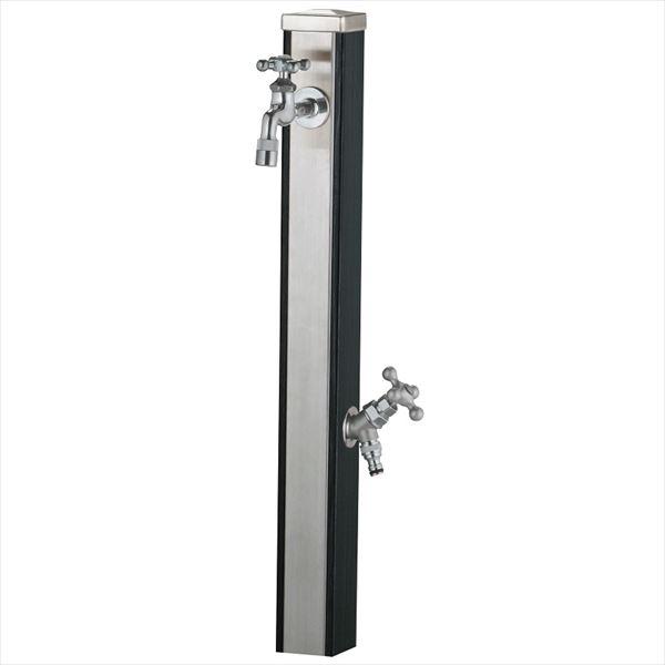 ユニソン スプレスタンド70 蛇口(シルバー)2個セット 『水栓柱・立水栓セット(蛇口付き)』 ウッドブラック