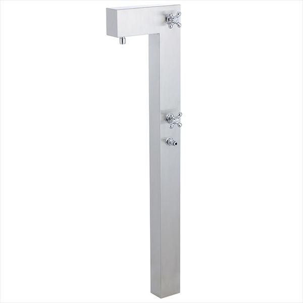 ユニソン ライアンスタンド  『立水栓セット 蛇口+補助蛇口付き』  ステンシルバー