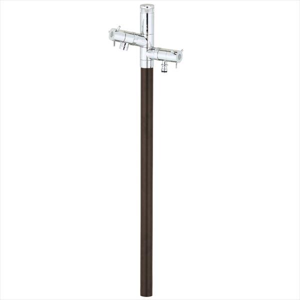 ユニソン エインスタンド 不凍栓 2口 左右仕様 L1000 『立水栓セット(蛇口付き)』 日本水道協会認定品 ブラウン