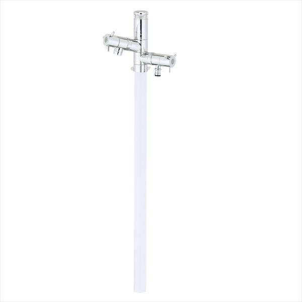 ユニソン エインスタンド 不凍栓 2口 左右仕様 L1000 『立水栓セット(蛇口付き)』 日本水道協会認定品 ホワイト