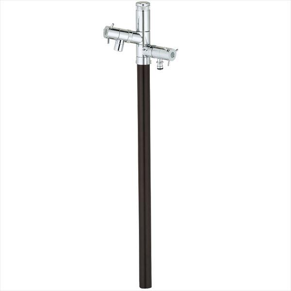 ユニソン エインスタンド 2口 左右仕様 L1000 『立水栓セット(蛇口付き)』 日本水道協会認定品 ブラウン