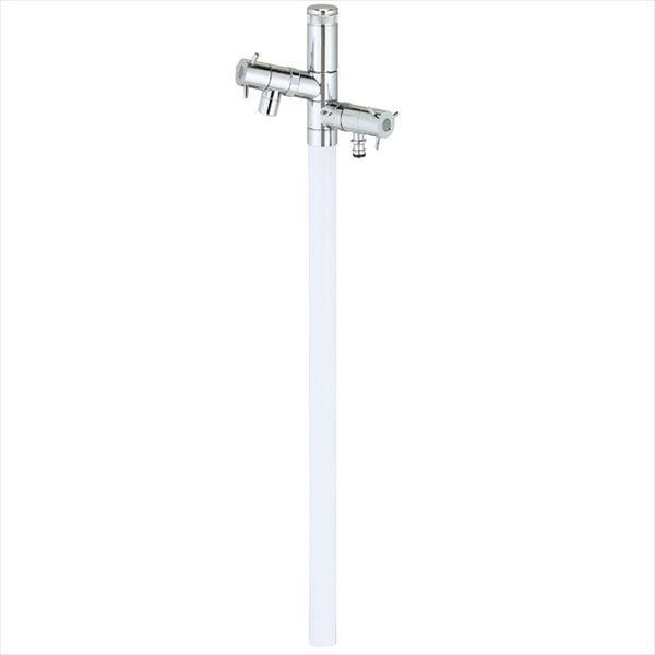 ユニソン エインスタンド 2口 左右仕様 L1000 『立水栓セット(蛇口付き)』 日本水道協会認定品 ホワイト