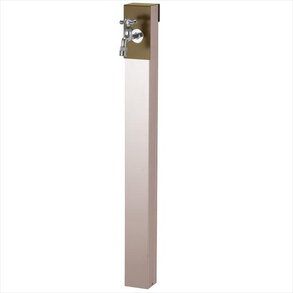 ユニソン リーナアロン 950スタンド シングル 蛇口(シルバー)1個セット 上部蛇口 シングル付 『立水栓セット(蛇口付き)』  オリーブドラブ