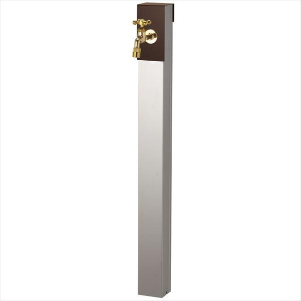 ユニソン リーナアロン 950スタンド シングル 蛇口(ゴールド)1個セット 上部蛇口 シングル付 『立水栓セット(蛇口付き)』  チョコブラウン