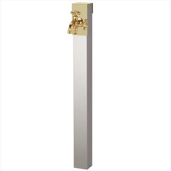 ユニソン リーナアロン 950スタンド ツイン 蛇口(ゴールド)1個セット プレーンフォーセット ツイン付 『立水栓セット(蛇口付き)』  エクルベージュ
