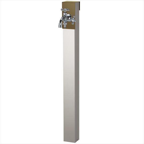 ユニソン リーナアロン 950スタンド ツイン 蛇口(シルバー)1個セット プレーンフォーセット ツイン付 『立水栓セット(蛇口付き)』  オリーブドラブ