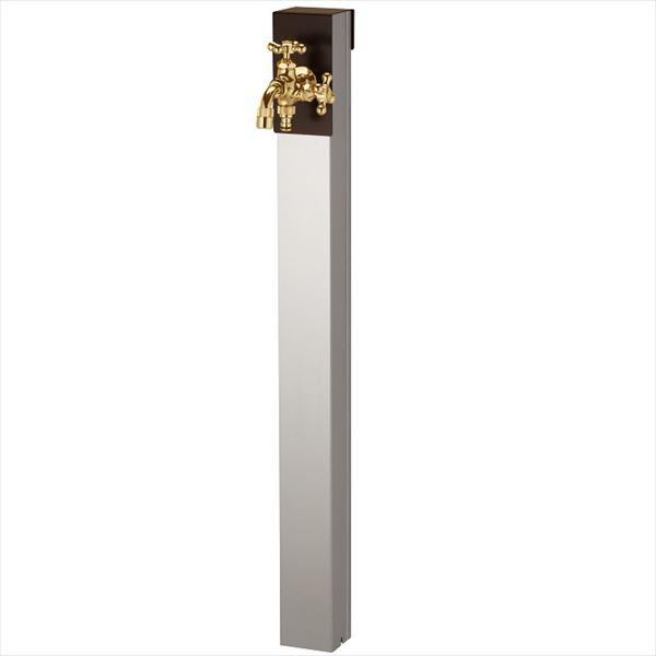 ユニソン リーナアロン 950スタンド ツイン 蛇口(ゴールド)1個セット プレーンフォーセット ツイン付 『立水栓セット(蛇口付き)』  チョコブラウン